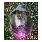 merlin the magician art illustration Square Car Ma