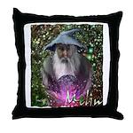 merlin the magician art illustration Throw Pillow