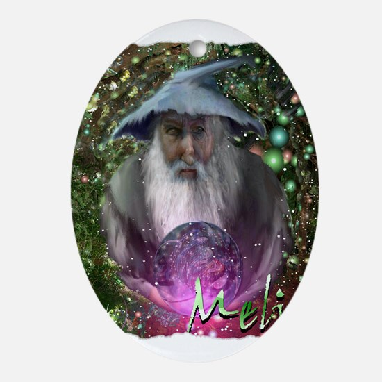 merlin the magician art illustration Ornament (Ova