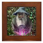 merlin the magician art illustration Framed Tile