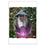 merlin the magician art illustration Large Poster