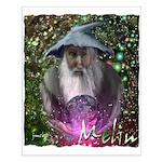 merlin the magician art illustration Small Poster