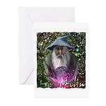 merlin the magician art illustration Greeting Card