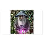 merlin the magician art illustration Sticker (Rect