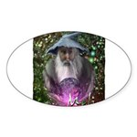 merlin the magician art illustration Sticker (Oval