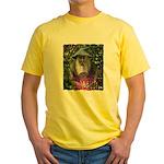 merlin the magician art illustration Yellow T-Shir