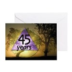 45 Year Birthday Greeting Card - One Day at a Time