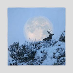 Buck deer moon Queen Duvet