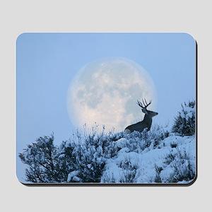 Buck deer moon Mousepad