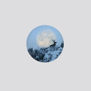 Buck deer moon Mini Button