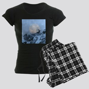 Buck deer moon Women's Dark Pajamas