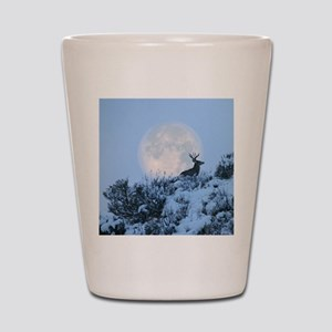Buck deer moon Shot Glass