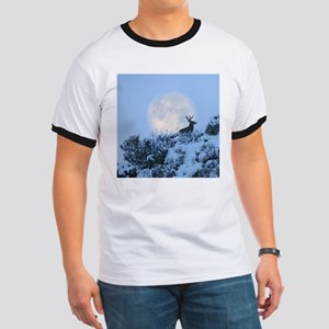 Buck deer moon Ringer T