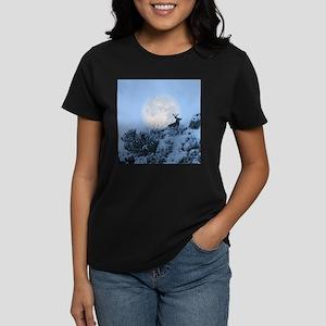 Buck deer moon Women's Dark T-Shirt