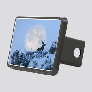 Buck deer moon Rectangular Hitch Cover