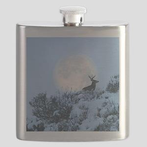 Buck deer moon Flask