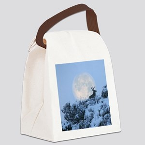 Buck deer moon Canvas Lunch Bag