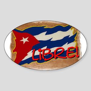 CUBA LIBRE! Oval Sticker