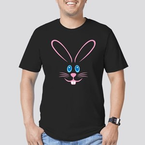 Pink Bunny Face Men's Fitted T-Shirt (dark)