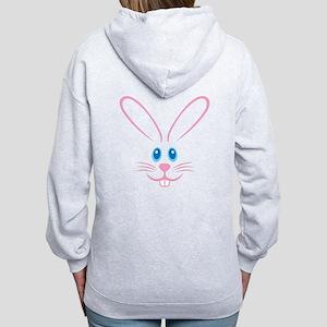 Pink Bunny Face Women's Zip Hoodie