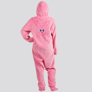 Pink Bunny Face Footed Pajamas