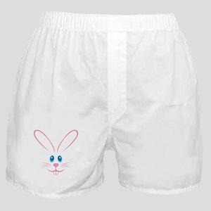 Pink Bunny Face Boxer Shorts