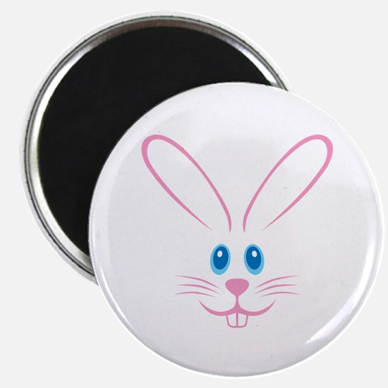 """Pink Bunny Face 2.25"""" Magnet (100 pack)"""