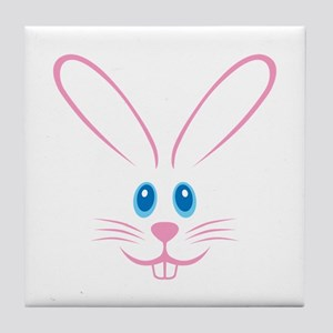 Pink Bunny Face Tile Coaster