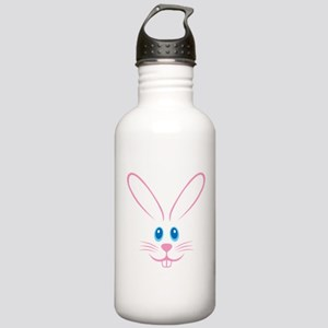 Pink Bunny Face Stainless Water Bottle 1.0L