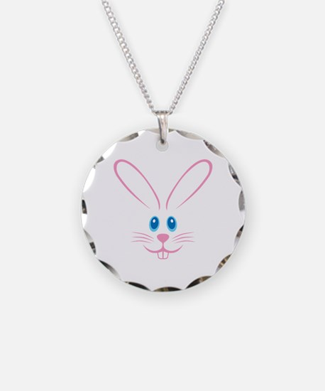 Pink Bunny Face Necklace