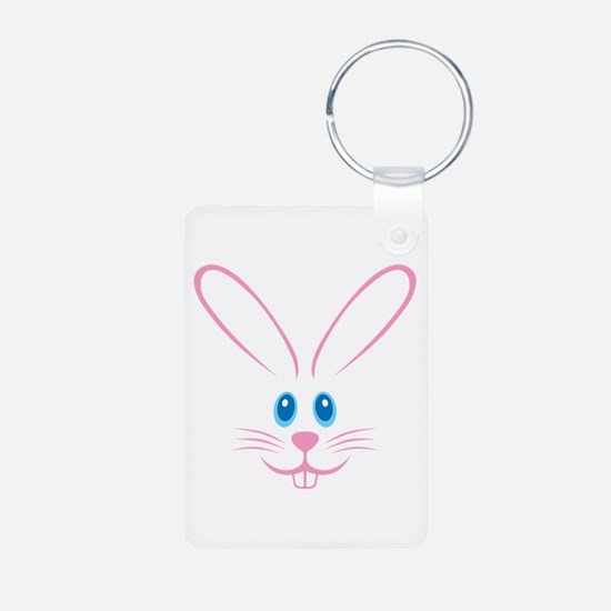 Pink Bunny Face Keychains