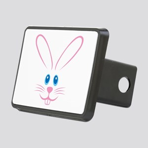 Pink Bunny Face Rectangular Hitch Cover