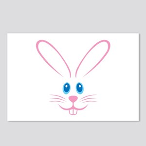 Pink Bunny Face Postcards (Package of 8)