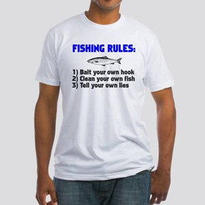 Fishing Rules Fitted T-Shirt