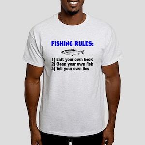 Fishing Rules Light T-Shirt