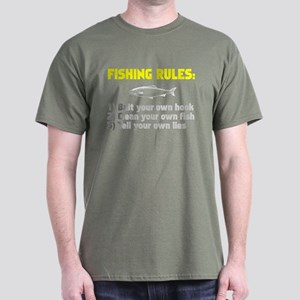 Fishing Rules Dark T-Shirt