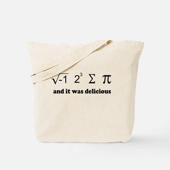 i eight sum pi Tote Bag