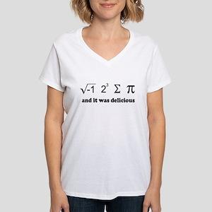 i eight sum pi Women's V-Neck T-Shirt