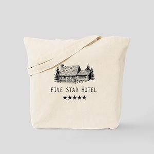 Five star hotel cabin Tote Bag