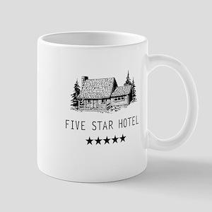Five star hotel cabin Mug