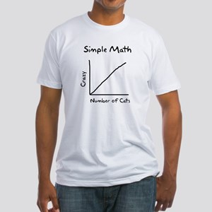 Simple math crazy number of cats Fitted T-Shirt
