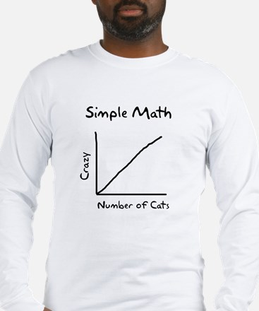 Simple math crazy number of cats Long Sleeve T-Shi