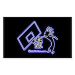 Kokopelli Basketball Player Rectangle Sticker