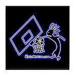 Kokopelli Basketball Player Tile Coaster