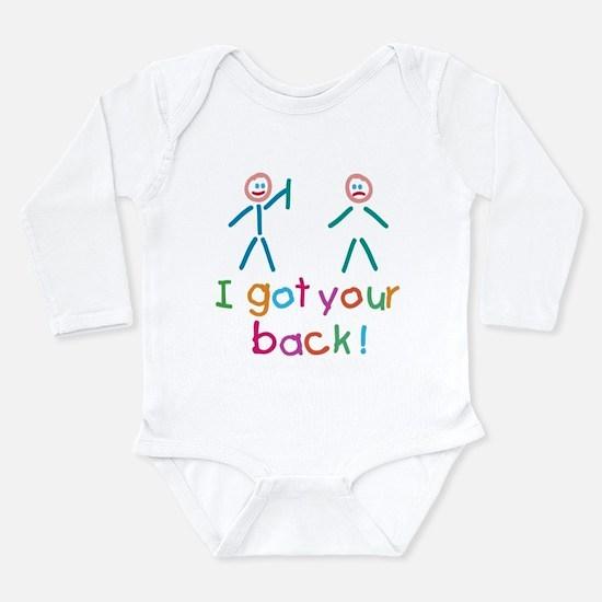 I Got Your Back Fun Long Sleeve Infant Bodysuit