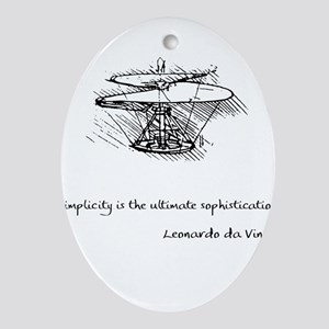 vinci_helico_cita_2000 Ornament (Oval)