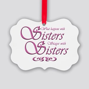 Sisters Picture Ornament