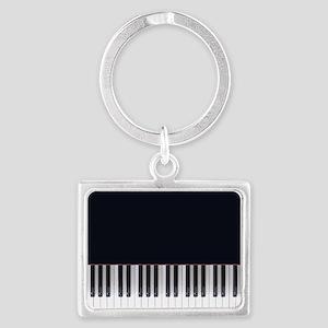 Piano Keys Design 3 Landscape Keychain