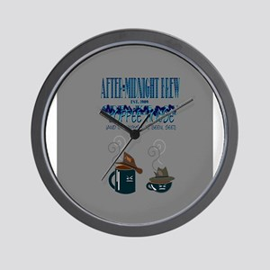 After Midnight Brew Speakeasy Wall Clock