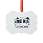 Grand Teton Blue Sign Picture Ornament
